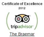 tripadvisor certificate of excellence 2012 - The Braemar