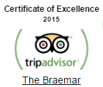 tripadvisor certificate of excellence 2015 - The Braemar