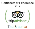 tripadvisor certificate of excellence 2013 - The Braemar